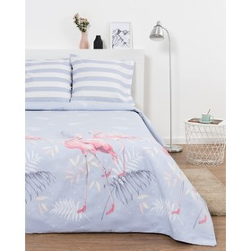 Постельное бельё Евро Эталоника «Фламинго» 205х217см, 220х240 см, 70х70 см -2 шт,