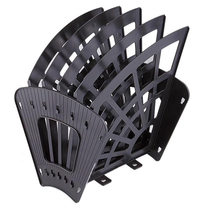 Лоток-веер 5 секций, 4 отделения «Эконом», чёрный