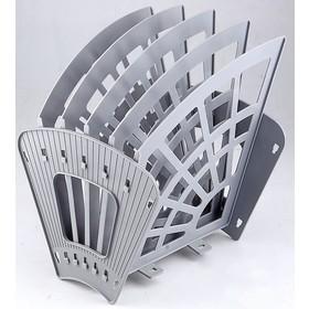 Лоток-веер 5 секций, 4 отделения «Эконом», серый