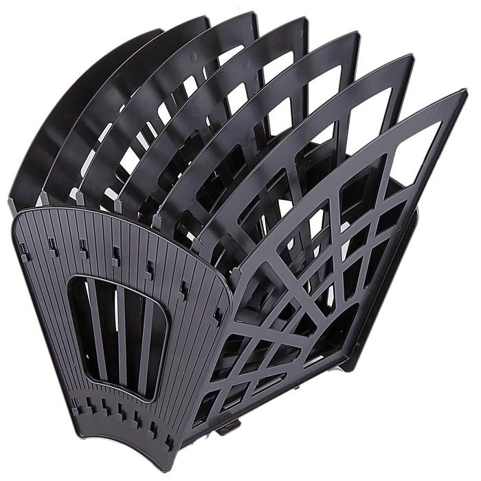 Лоток-веер 7 секций, 6 отделений, «Эконом», чёрный
