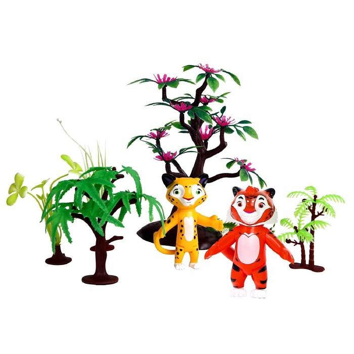 Мягкий игровой набор Лео и Тиг, 2 героя, 7,5 см, с аксессуарами