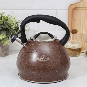 Чайник со свистком «Мелеф», 3 л, индукция, цвет коричневый
