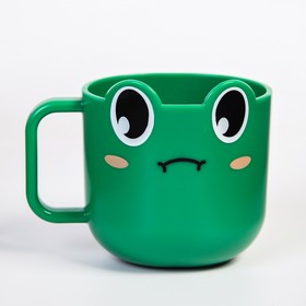 Кружка детская 260 мл., «Лягушка», цвет зеленый