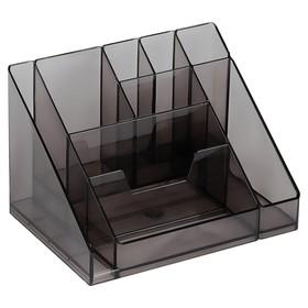 Настольная подставка-органайзер «Каскад», тонированный, серый