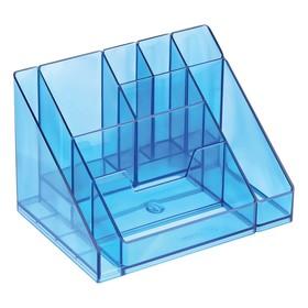 Настольная подставка-органайзер «Каскад», тонированный, голубой