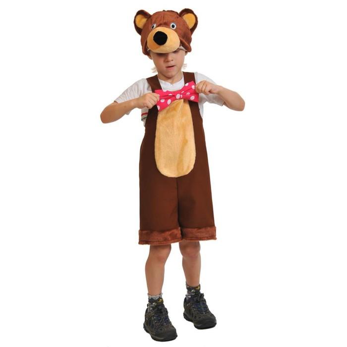 Карнавальный костюм «Медведь цирковой», ткань-плюш, 3-6 лет, рост 92-122 см - фото 105521045