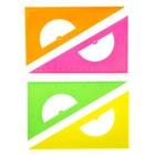 Треугольник 16 см 30* «Стамм» NEON Cristal, с транспортиром, отливная шкала, микс