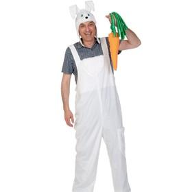 Карнавальный костюм «Заяц», полукомбинезон, маска, р. 48-54 (M-L), рост 176-182 см