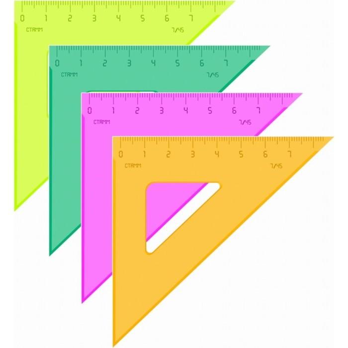Треугольник 7см 45* «Стамм» NEON, микс