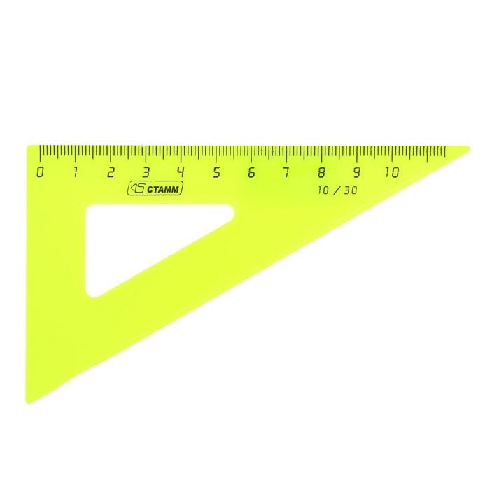 Треугольник 10 см 30* «Стамм» NEON, микс