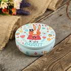 "Box metal round ""Happy Bunny in colors"" matte 5х13,5х13,5 cm"
