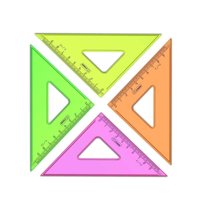 Треугольник 9 см 45* «Стамм» NEON Cristal, МИКС *