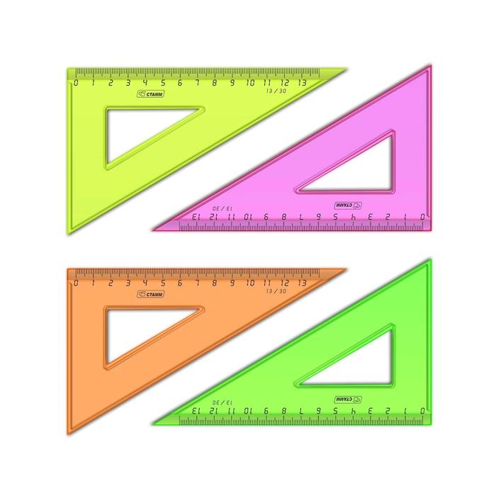 Треугольник 13 см 30* «Стамм» NEON Cristal, микс