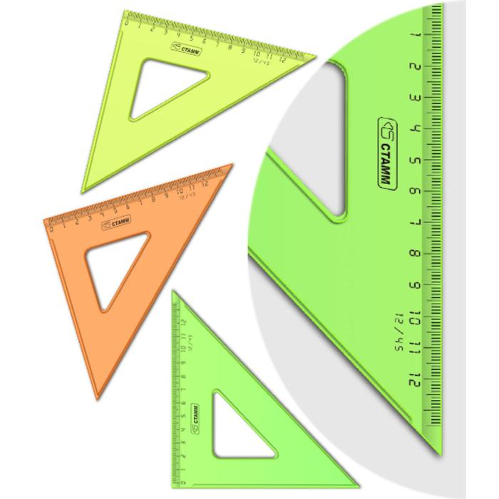 Треугольник 12 см 45* «Стамм» NEON Cristal, микс