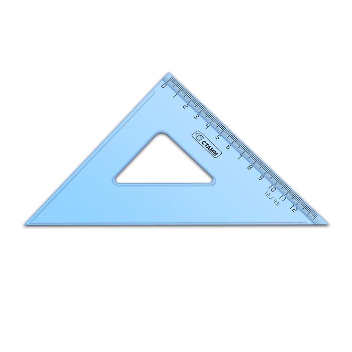 Треугольник 12 см 45* «Стамм» прозрачный, тонированный