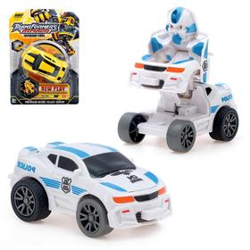 Робот-трансформер инерционный «Автоботик», трансформируется при столкновении, цвета МИКС