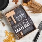 "Кух.набор ""Super man"",варежка-прихватка 20х28см, молоток деревян."