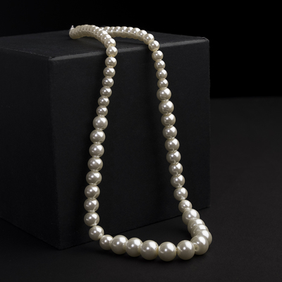 Beads pearls Bride beads of different sizes d=0.5 and 1.5, the color of milk