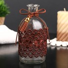 "Bottle for essential oil/decor glass ""Tassel and lace"" transparent 200 ml 13,5х6х6 cm"