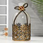 "Bottle for essential oil/decor glass ""flower lace"" transparent 200 ml 13,5х6х6 cm"