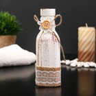 "Bottle for essential oil/decor glass ""Daisy and lace"" white Matt 150 ml 15,8х5х5 cm"
