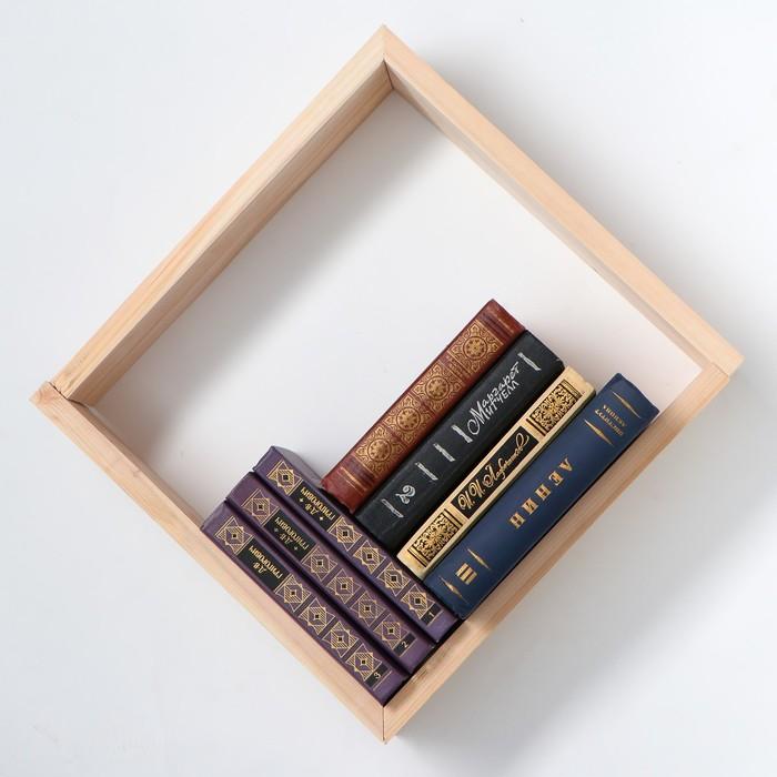 """Полка деревянная """"Лион"""", набор 2 штуки, 40 х 12 х 8,5 см, 1 сорт"""