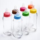 Бутылочка для кормления 280 мл., стекло, цвет МИКС - фото 977969