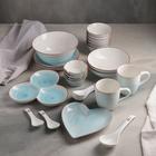 Набор столовый «Космос», 26 предметов, цвет голубой - фото 834506