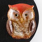 Блюдо сервировочное «Совунья», 18×15,5×3,5 см, цвет хохолка красный - фото 234700