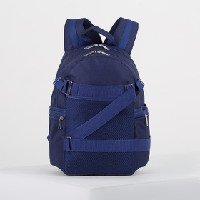 4918 p900 Backpack mol 28 * 18 * 40, separate with a zipper, 5 n / pockets, blue