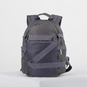 4918 p900 Backpack mole 28 * 18 * 40, separate with a zipper, 5 n / pockets, gray