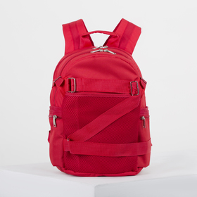 4918 p900 Backpack mole 28 * 18 * 40, separate with a zipper, 5 n / pockets, red