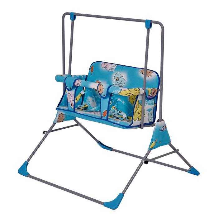 Качели напольные  для двоих Фея «Малыш», цвет голубой