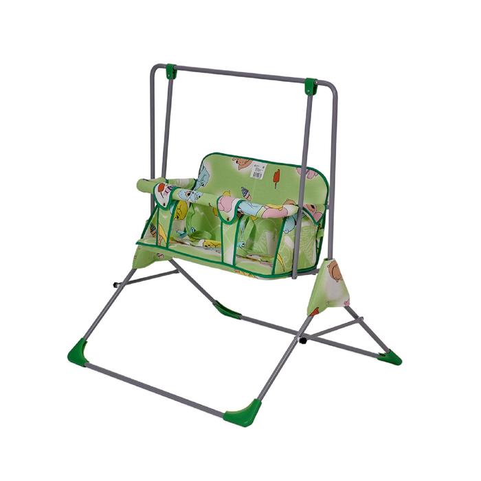 Качели напольные  для двоих Фея «Малыш», цвет зелёный