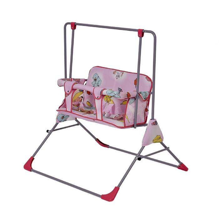 Качели напольные  для двоих Фея «Малыш», цвет розовый