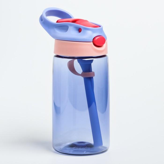 Поильник с трубочкой, мягкий носик, цвет фиолетовый - фото 724585718