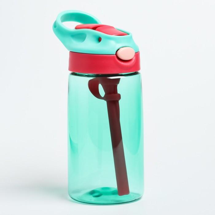 Поильник с трубочкой, мягкий носик, цвет зеленый - фото 726156260