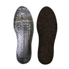 Стельки зимние для обуви ShoExpert Alu Felt, безразмерные