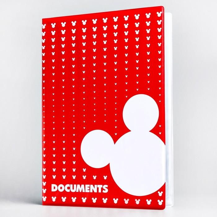 Папка для документов, Микки Маус, 12 файлов, 4 комплекта