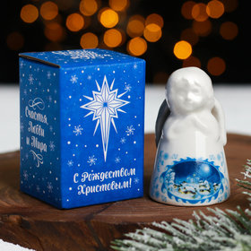 """Bell in the form of an angel """"Christmas night"""", 4 x 6 cm"""