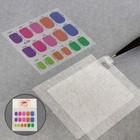 Fiberglass nail set 2 sheet with wyrobek 10,5*8,3 cm+marking A4 package QF 455431