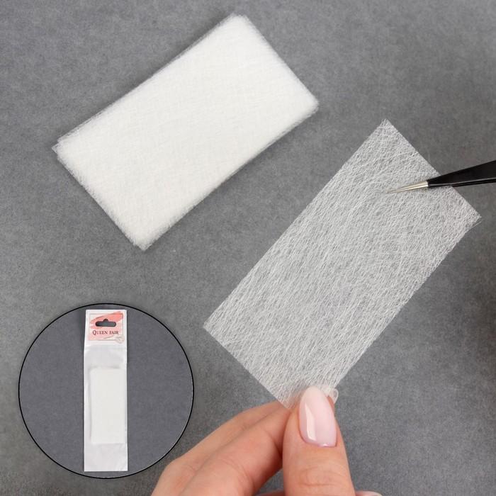 Стекловолокно для наращивания ногтей, 10 листов, 8 × 4 см