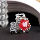 "Hair crab ""Shining flower"" butterfly 2.2 cm silver mix"
