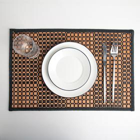 """Салфетка кухонная 40×30 см """"Шахматы"""", цвет чёрный"""