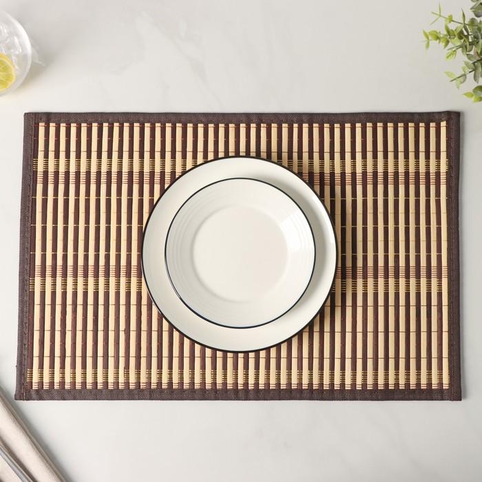 Салфетка кухонная «Кант», 45×30 см, цвет коричневый - фото 695140