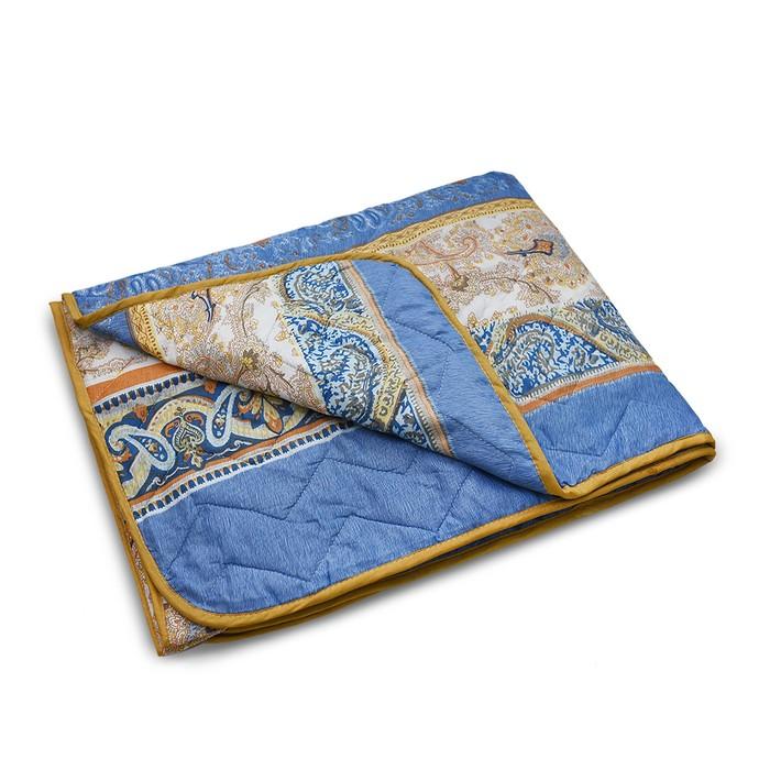 Одеяло стеганое облегченное, размер 172х205 см,цвет МИКС, файбер - фото 798372702