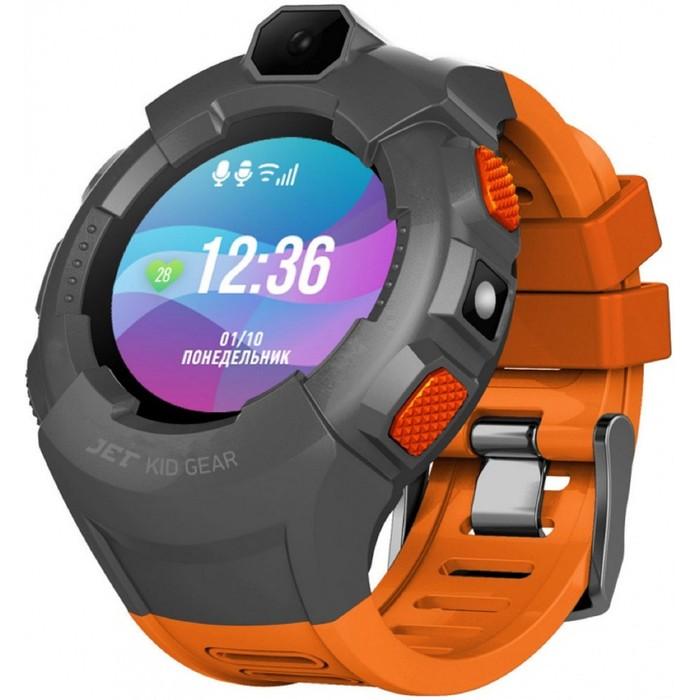 """Смарт-часы Jet Kid Gear, 50мм, 1.44"""", TFT, серый"""