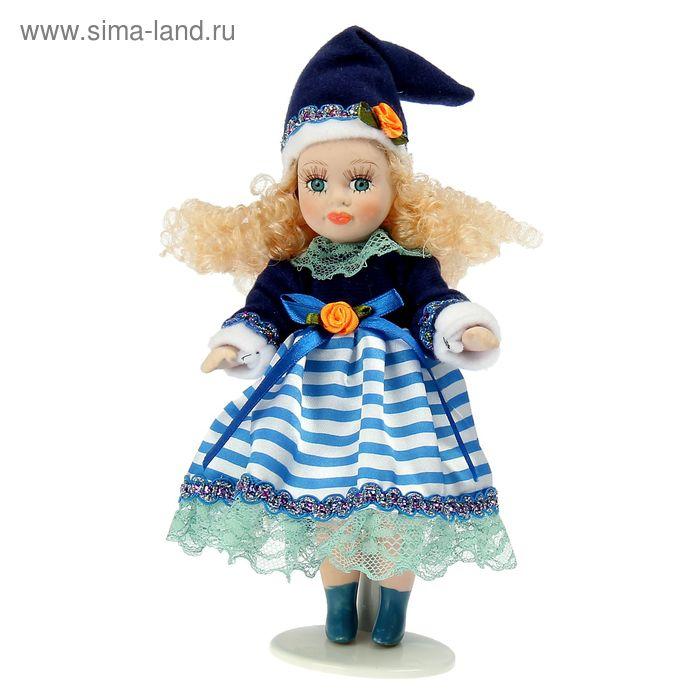 """Кукла коллекционная """"Яночка в синем платьице"""""""
