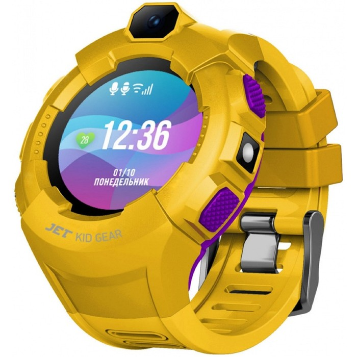 """Смарт-часы Jet Kid Gear, 50мм, 1.44"""", фиолетовый"""