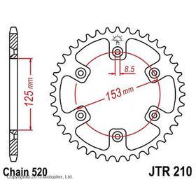 Звезда задняя, ведомая, JTR210 для мотоцикла стальная